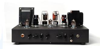 Picture of the inside of a tube amplifier